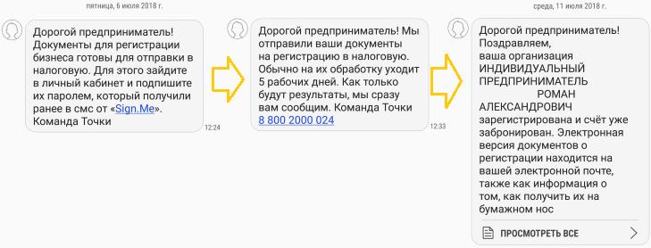Регистрация ип банк точка сдача отчетности в электронном виде цены